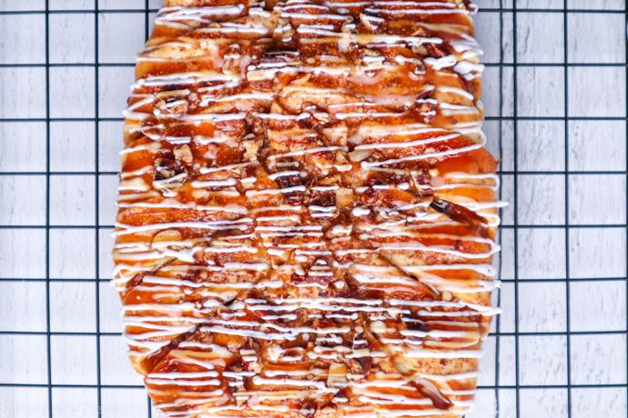 pumpkin maple danish on a cooling rack