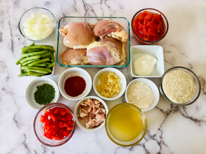 ingredients for slow cooker paprika chicken