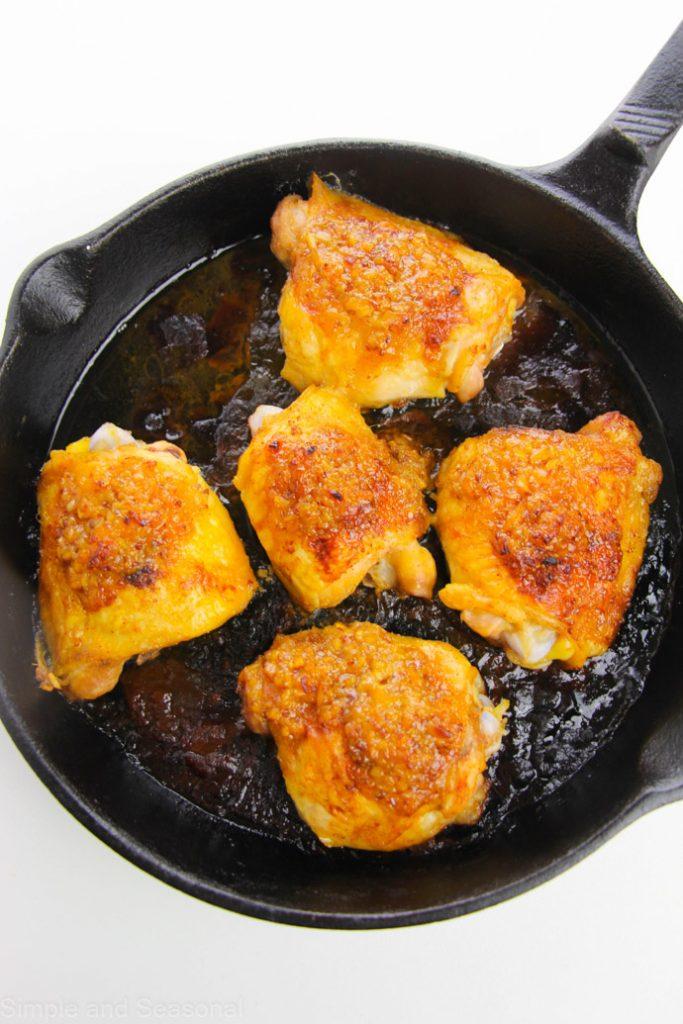 completely baked honey mustard chicken thighs