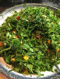 cramim breakfast salad bar chopped herb salad
