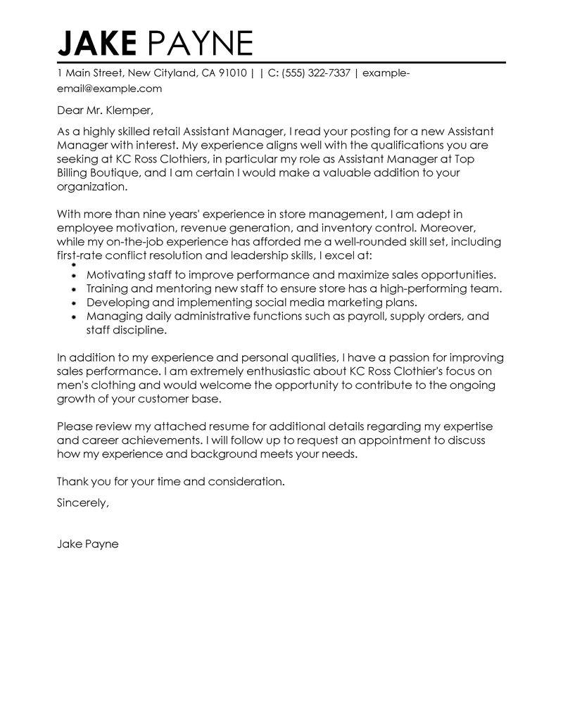 Cover Letter Supermarket Retail Assistant | Jidiletter.co