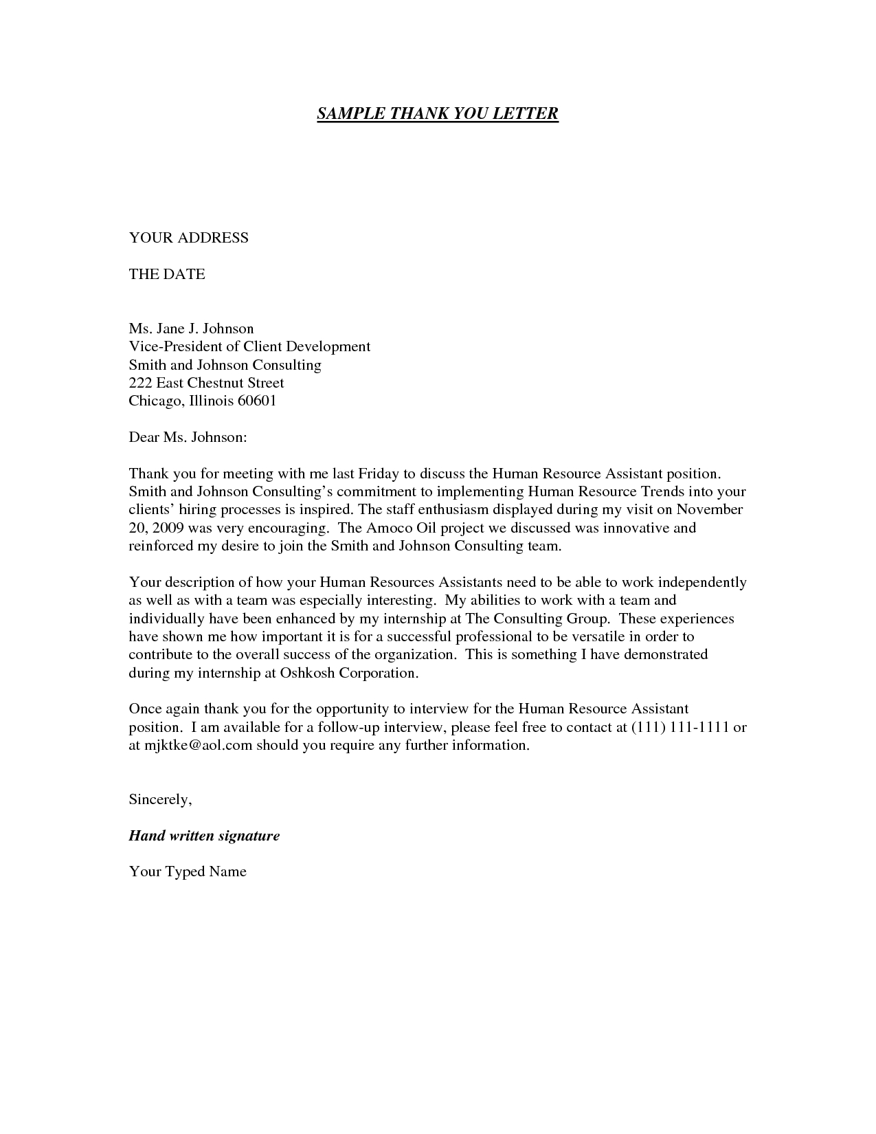 Medical Assistant Thank You Letter Example Save Template