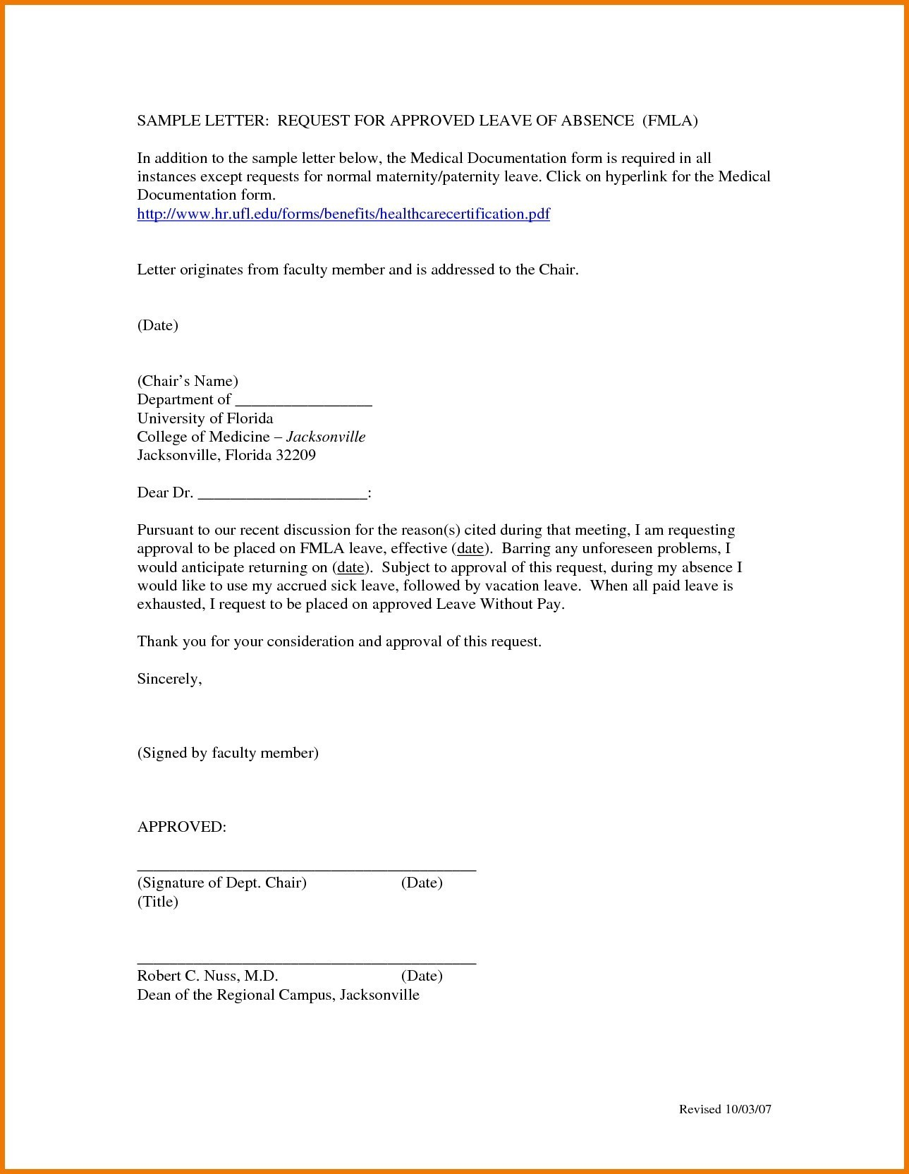 How to write a medical leave of absence letter for work