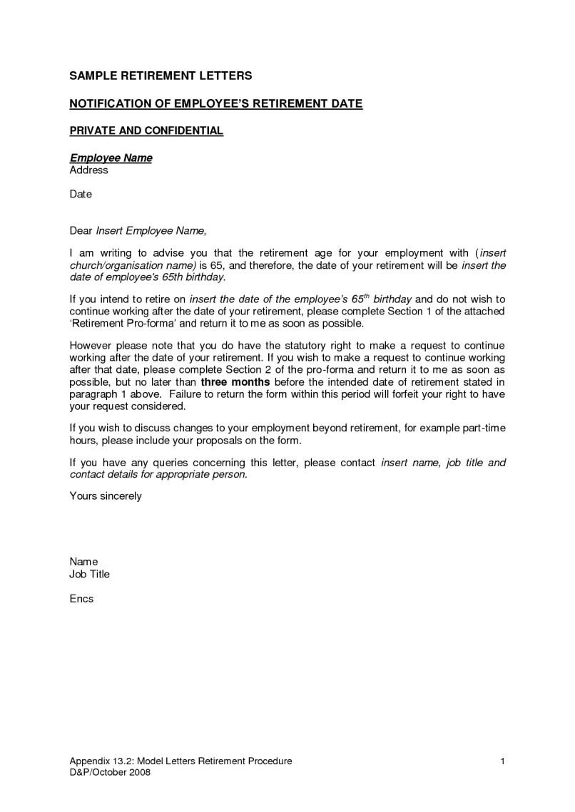 Sample Letter Of Resignation For Retirement | Aderichie.co
