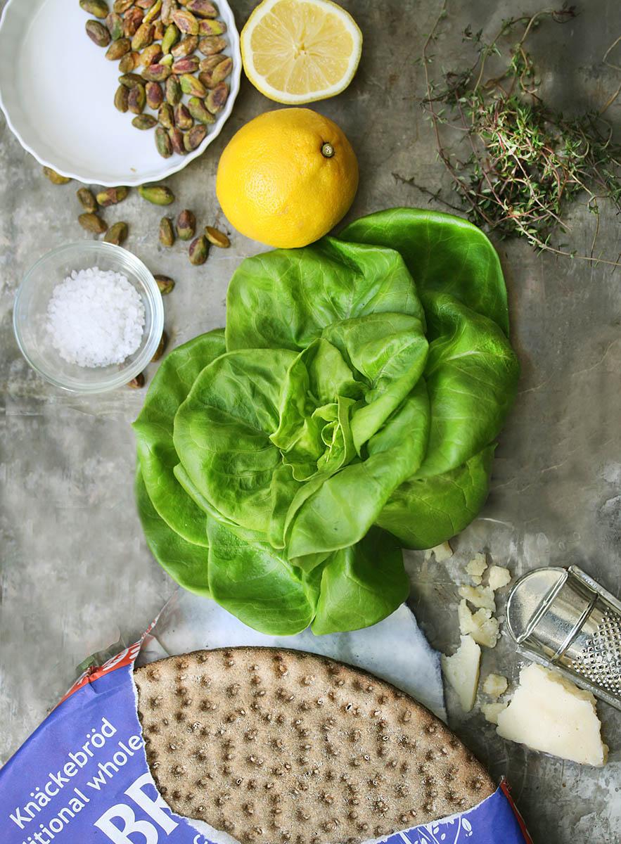 Spring Bibb Salad with Lemon-thyme Dressing