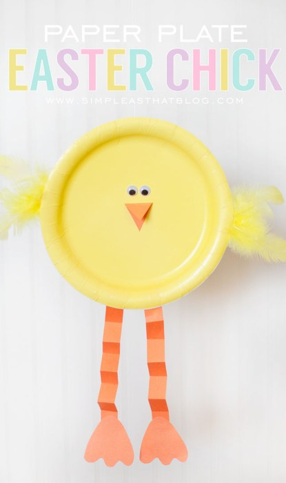 Paper Plate Chick Easter Easy Craft for Children