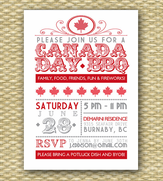 Printable Invitations Canada