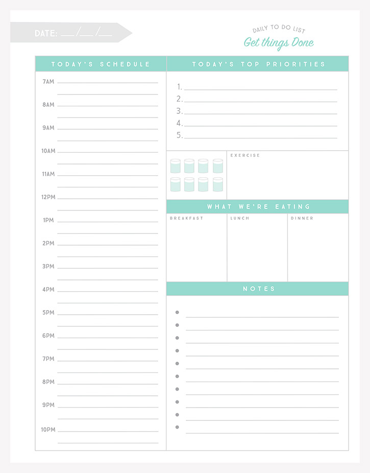 Do List Template Editable