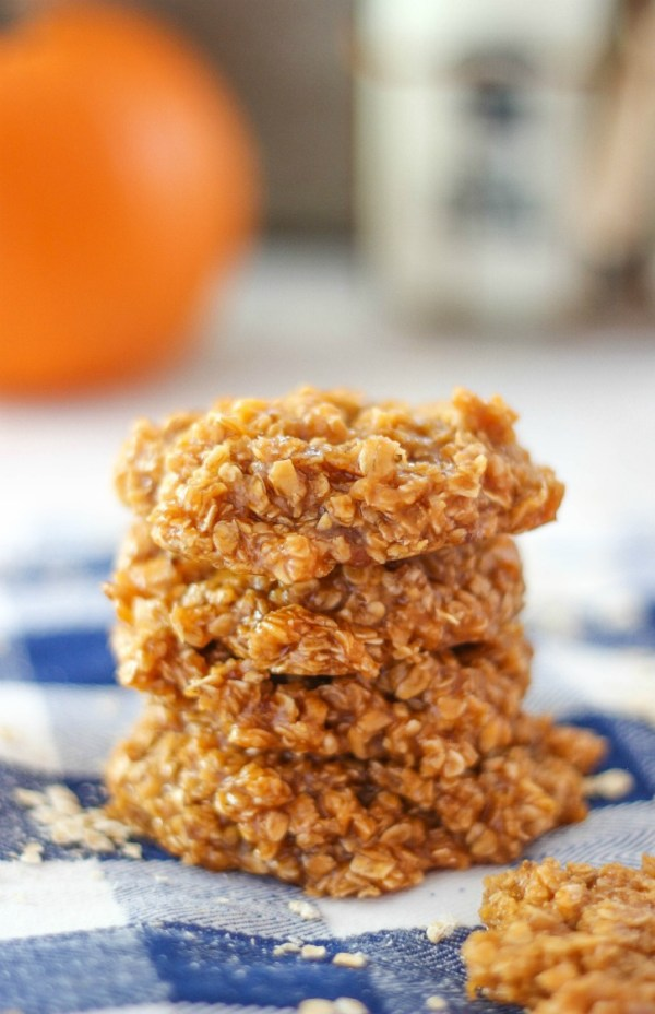 No Bake Pumpkin Spice Cookies