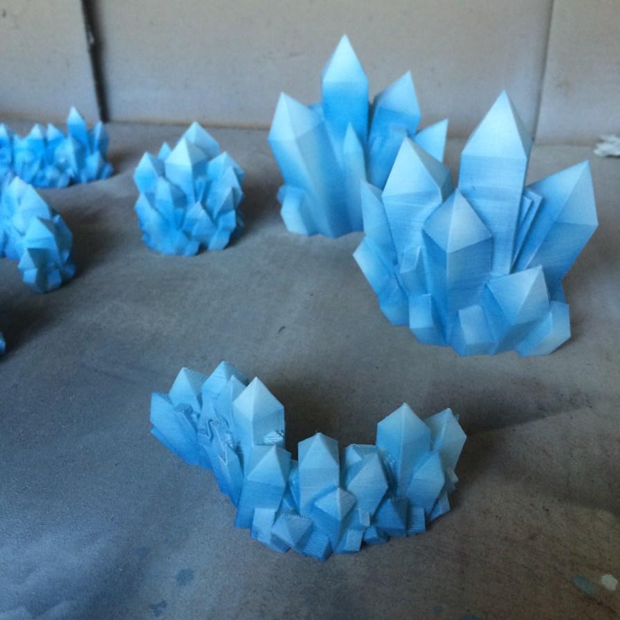 3d printed crystals