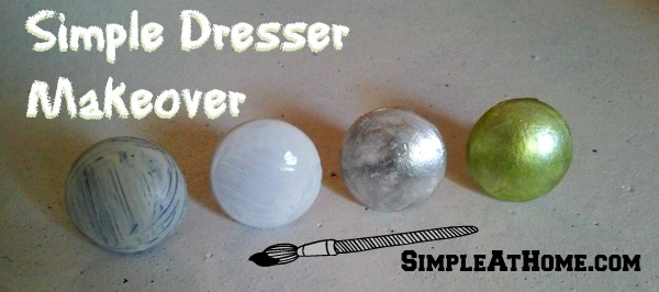 Simple Dresser Makeover – Paint Drawer Pulls