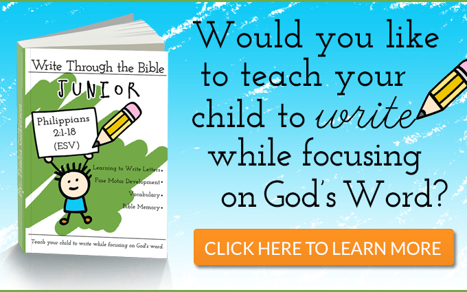 Preschool Handwriting: With Write Through The Bible Jr