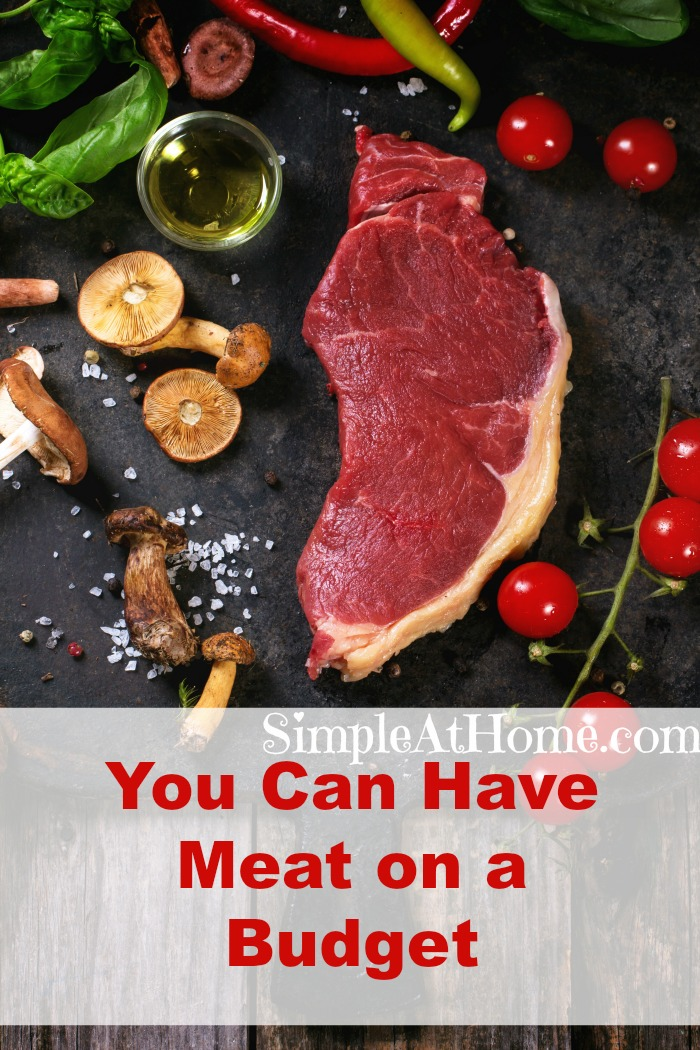 You can surve meat to your family on a budget