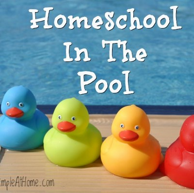 Need a fun way to learn over the summer? Homeschool in the pool.