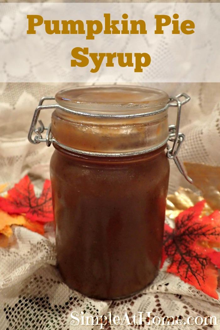 This pumpkin Pie Spice Syrup tastes like pumpkin pie! Perfect for homemade pumpkin spice lattes