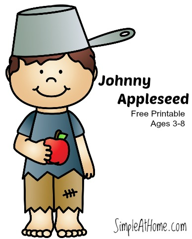 apple unit study w  johnny appleseed printable simple at johnny appleseed clip art free black and white johnny appleseed clip art images