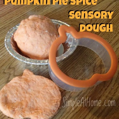 Pumpkin Pie Spice Sensory Dough - DIY sensory materials