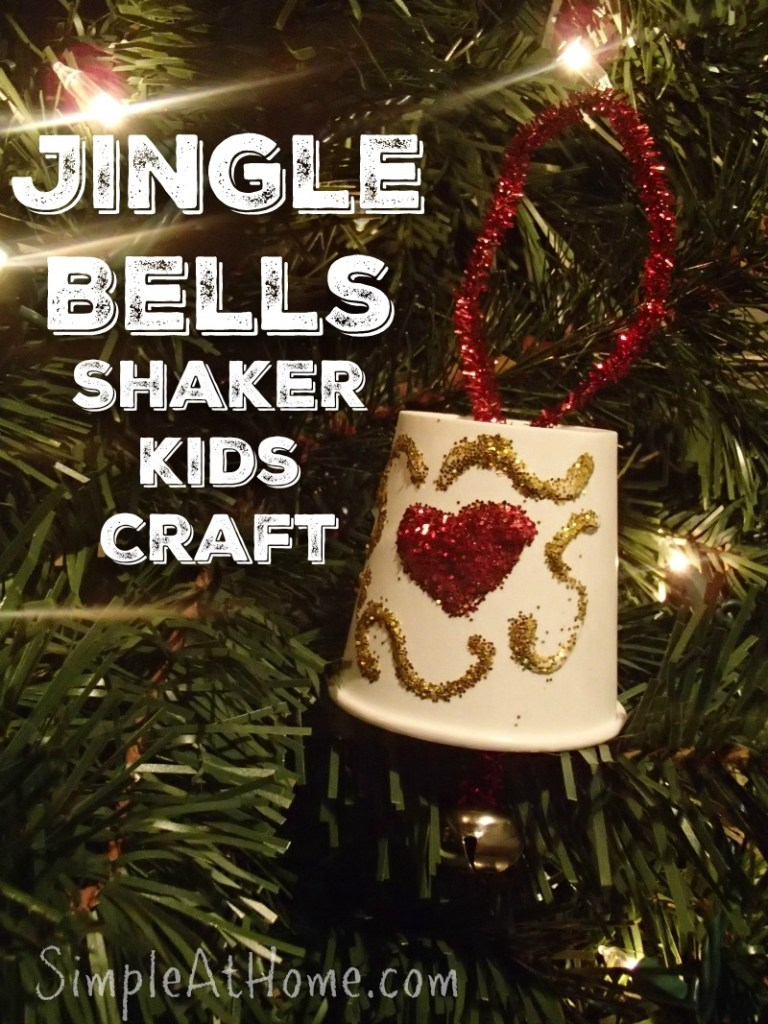 Jingle Bells Kids Craft with FREE Christmas carols for kids printable