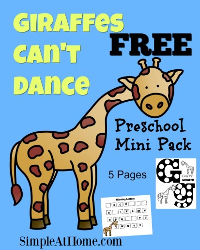 Giraffes Can't Dance Free Printable