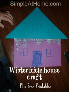 Winter House craft and free printables