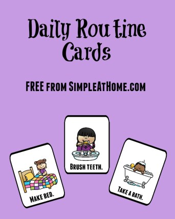The Importance of Routines and FREE morning routine cards