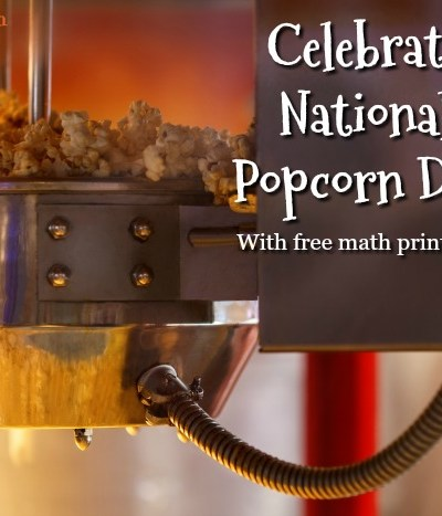 National popcorn day. Free Popcorn Math Printable
