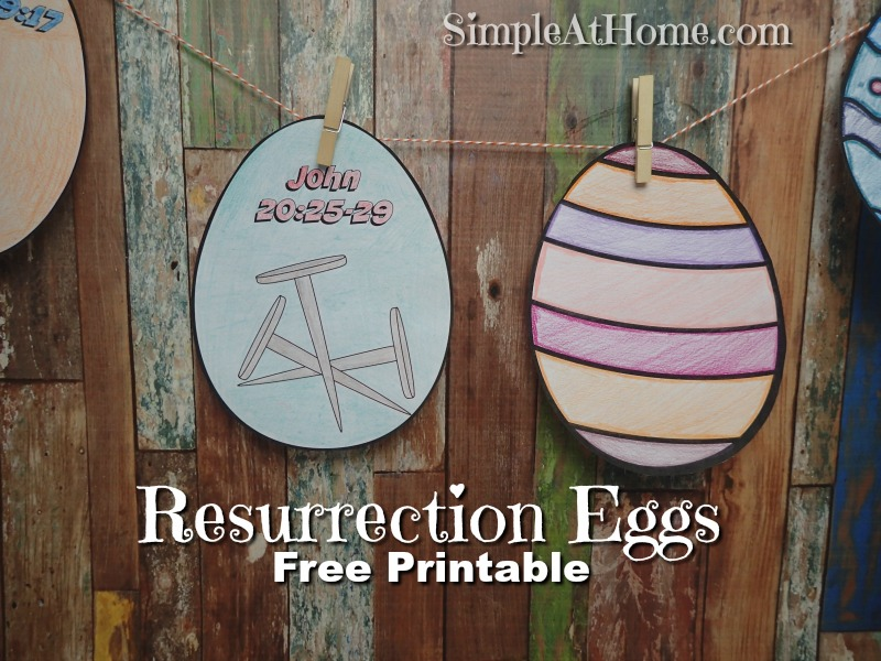 These color your own Resurrection Eggs are great for your kids.