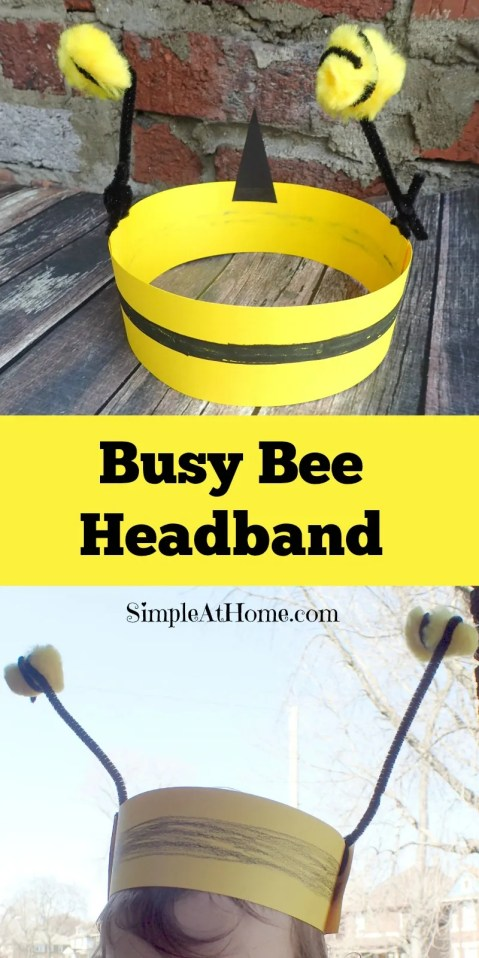 This fun head band and tips for getting your busy bees to help with spring cleaning