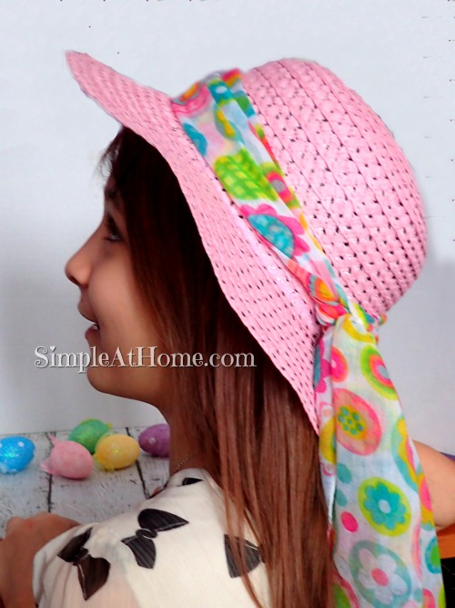 Girls just love cute dressy bonnets and this one is cheap and easy to make.