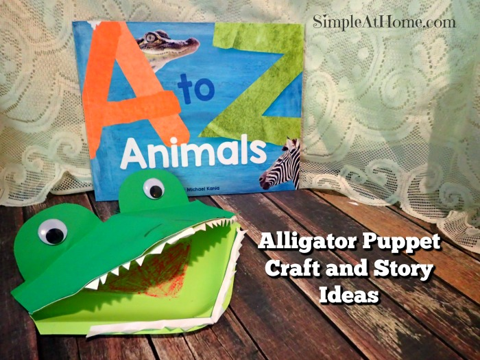 This cute alligator puppet craft makes storytime fun