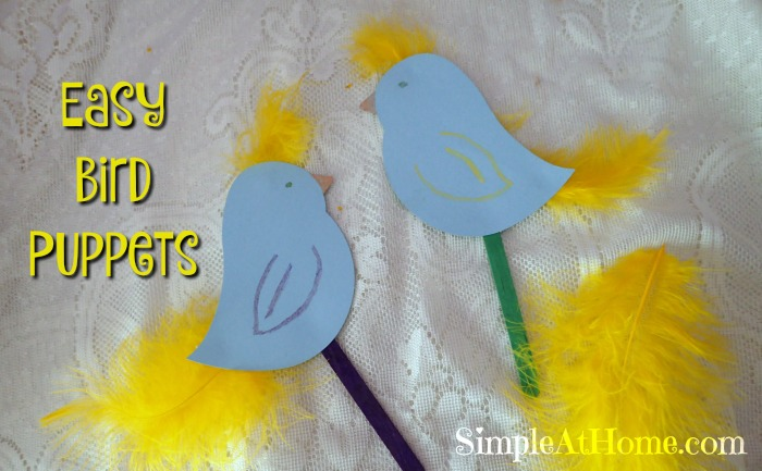 This cute set of bird puppets are easy to make with kids