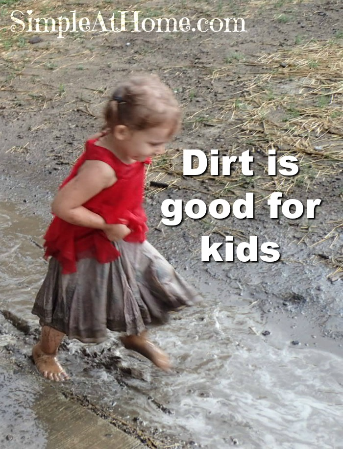 You kid needs to spend more time in the mud. This is why.
