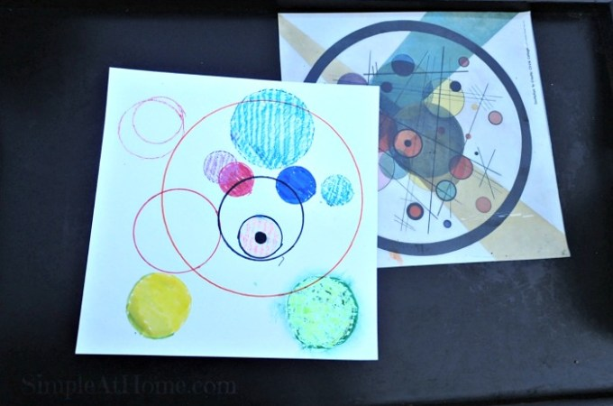 Invitation to Create: circle collage