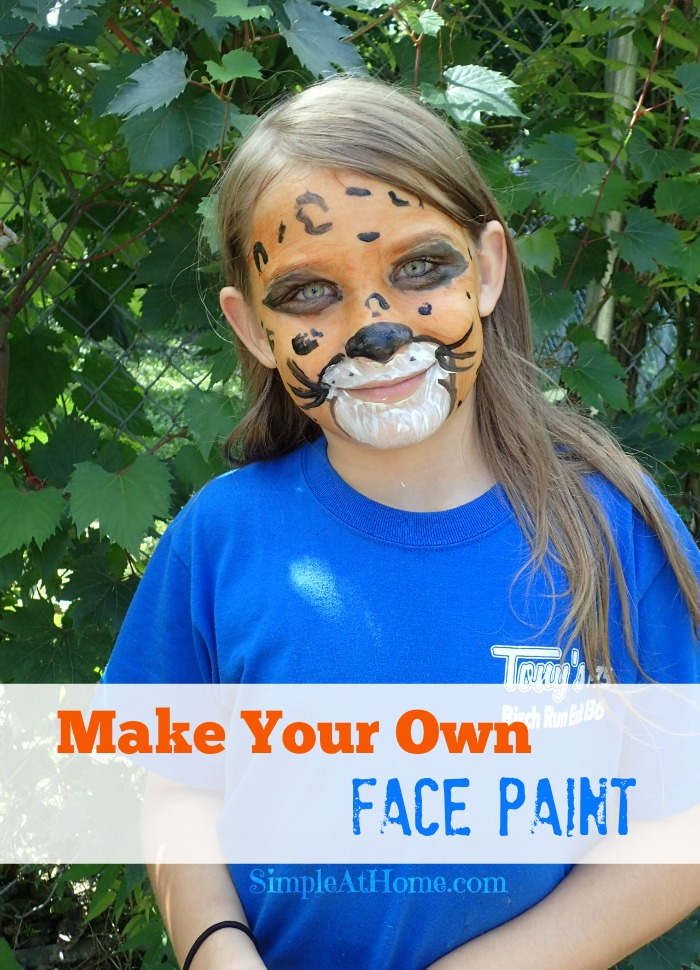homemade face paints perfect for halloween