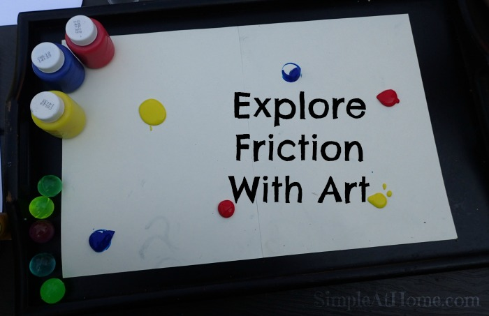 This friction experiment doubles as fun kids art.