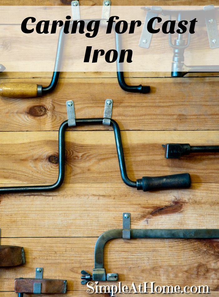 Caring for and restoring cast iron tools a value investment for preppers.