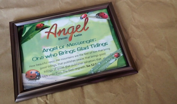 Framed Plaque with Name Meaning and Bible Verse