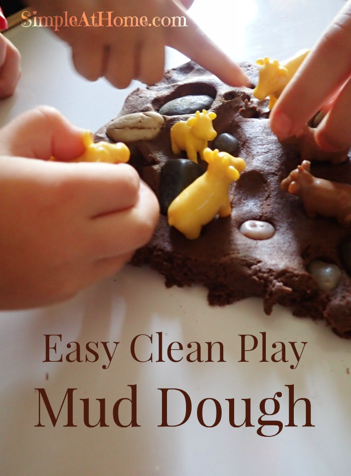 This DIY easy to clean mud sensory dough is just perfect for keeping little ones busy.