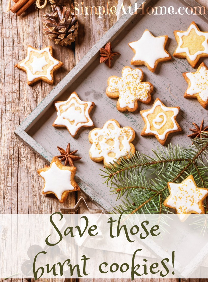 A must pin for the holidays. How to save burnt cookies, pies, biscuits, and even turkeys