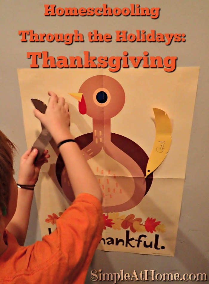 Homeschooling Through the Holidays: Thanksgiving