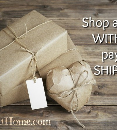 Save money, shop online without paying shipping.