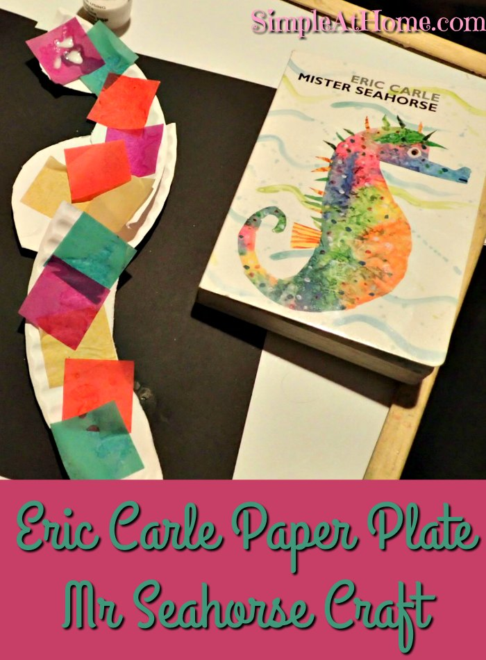 Eric Carle Paper Plate Mr Seahorse Craft