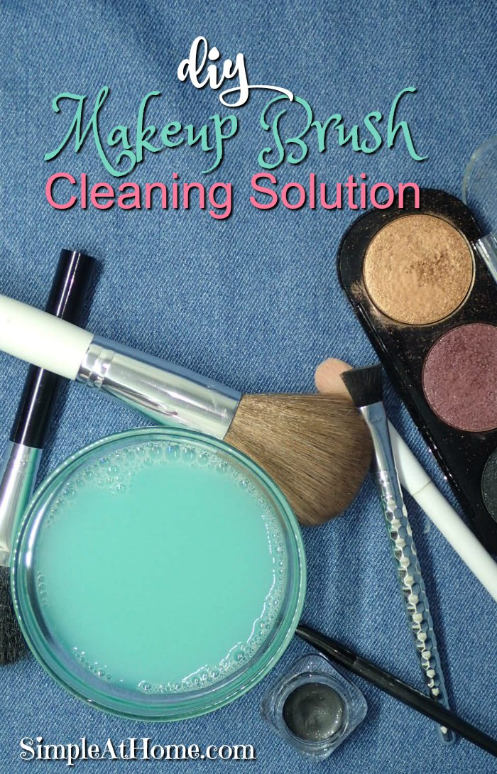 Homemade makeup brush Cleaning Solution