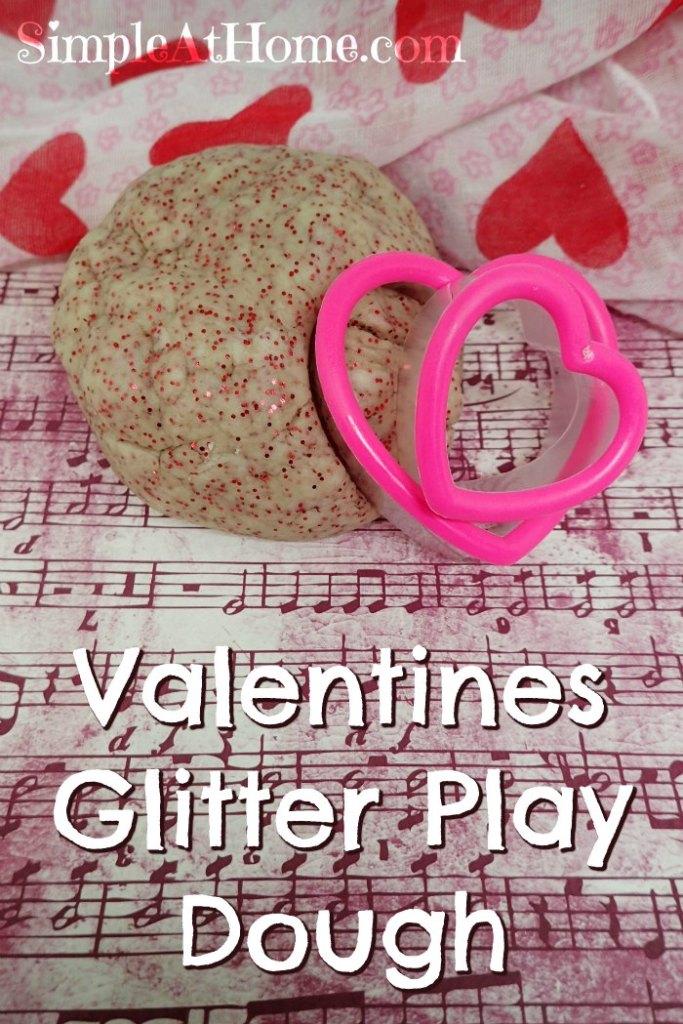 Valentines Glitter Play Dough