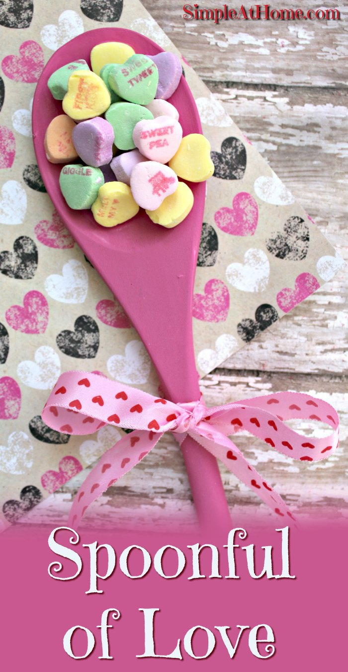 Grab conversation hearts on clearance after Valentines Day to make this cute gift for Mothers Day.