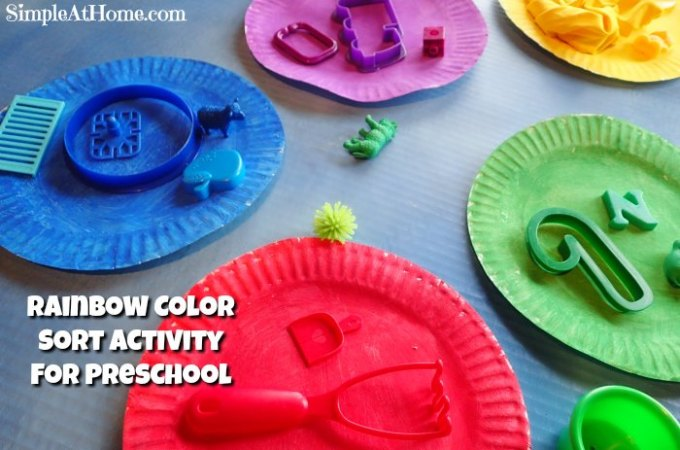 Rainbow Color Sort Activity for Preschool