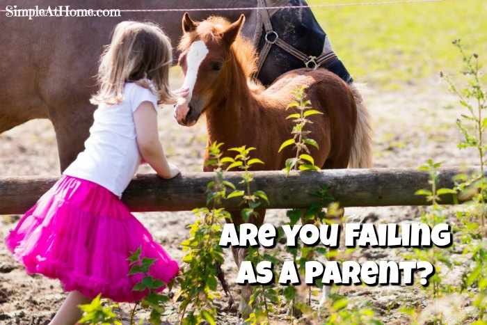 Parenting is hard. Sometimes you feel like you are failing. I am here to tell you the truth.