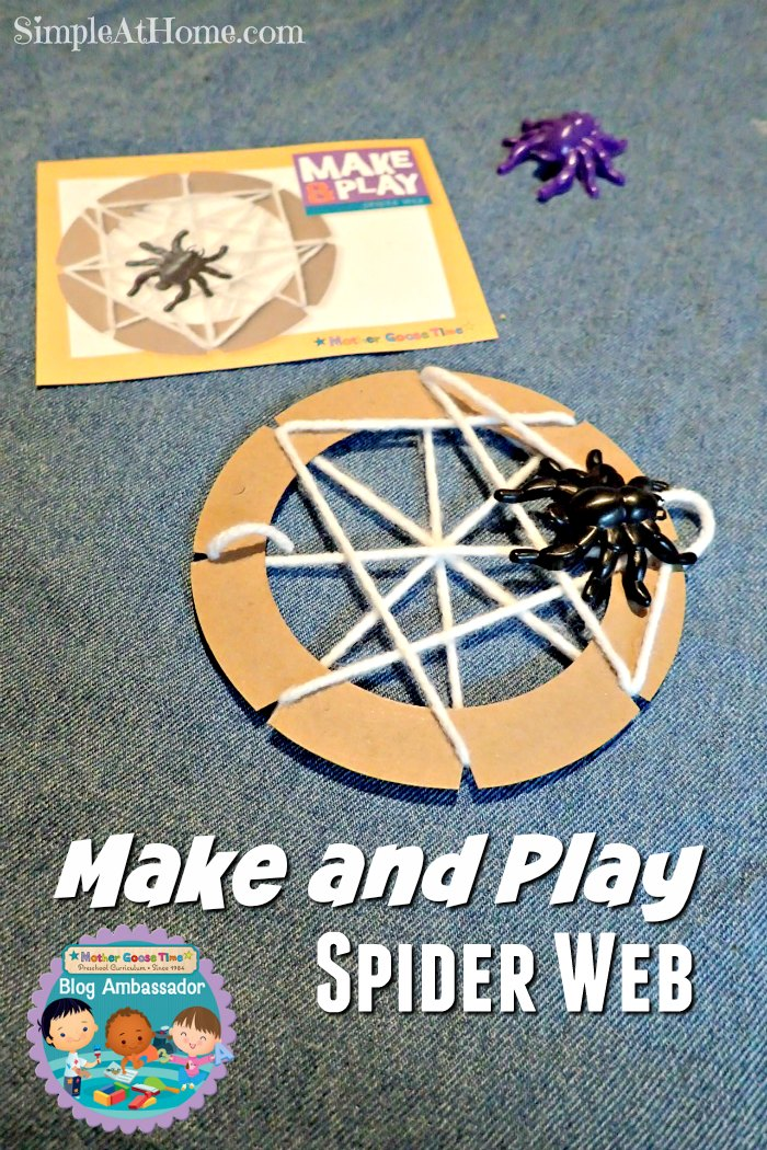 make and play | spider web | preschool | homeschool | Mother Goose Time | kid crafts