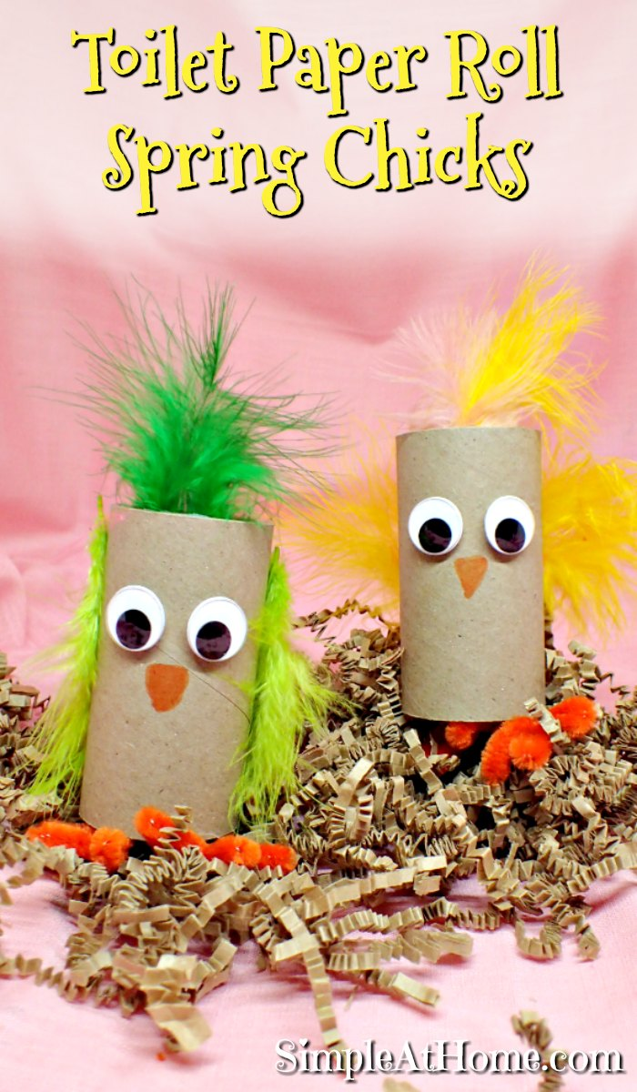 Toilet Paper Roll Spring Chicks
