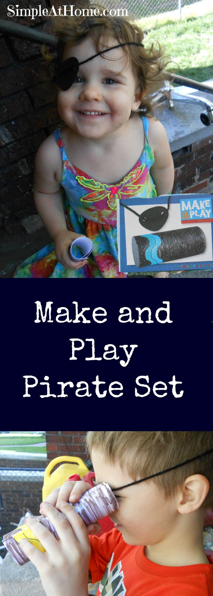 Make and play pirate pretend play set | kids crafts | kids activities